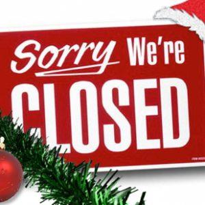 Wij zijn gesloten tijdens de kerstvakantie