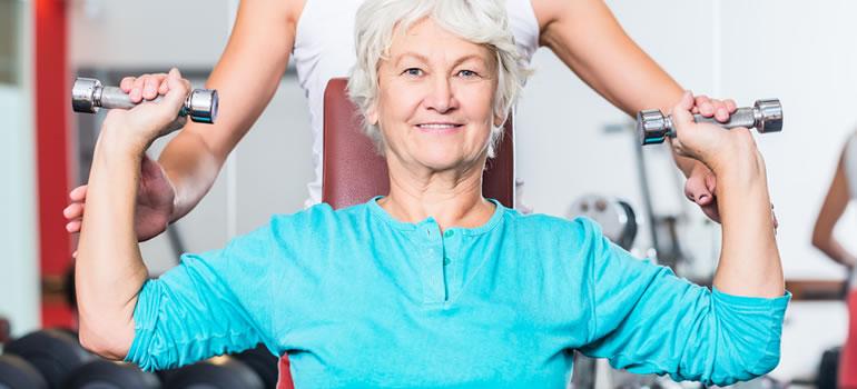 Senioren fitness - krachttraining ouderen