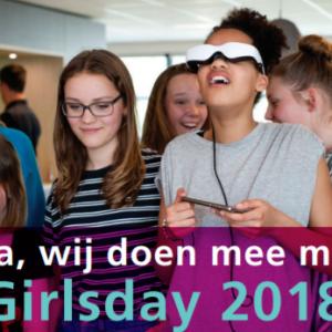 Wij doen mee met Girlsday 2018!