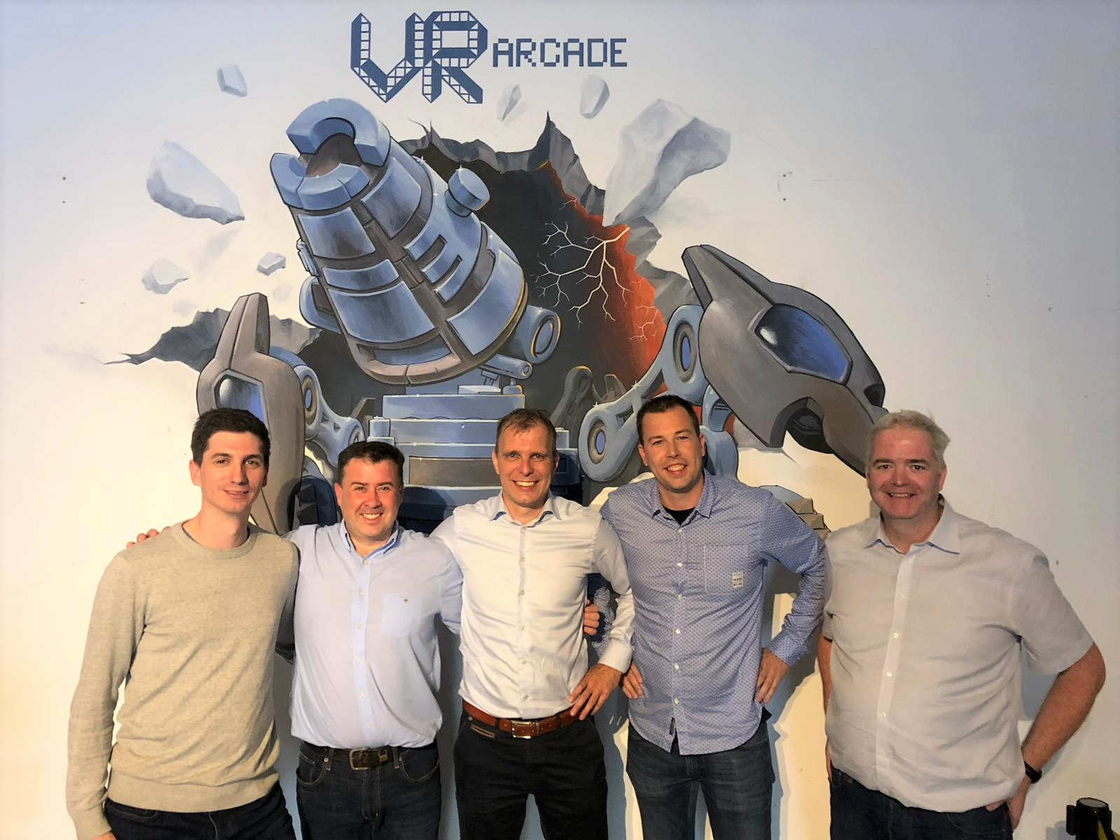 VR Arcade groepsfoto