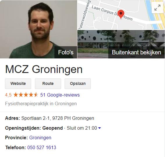 Google Mijn Bedrijf MCZ