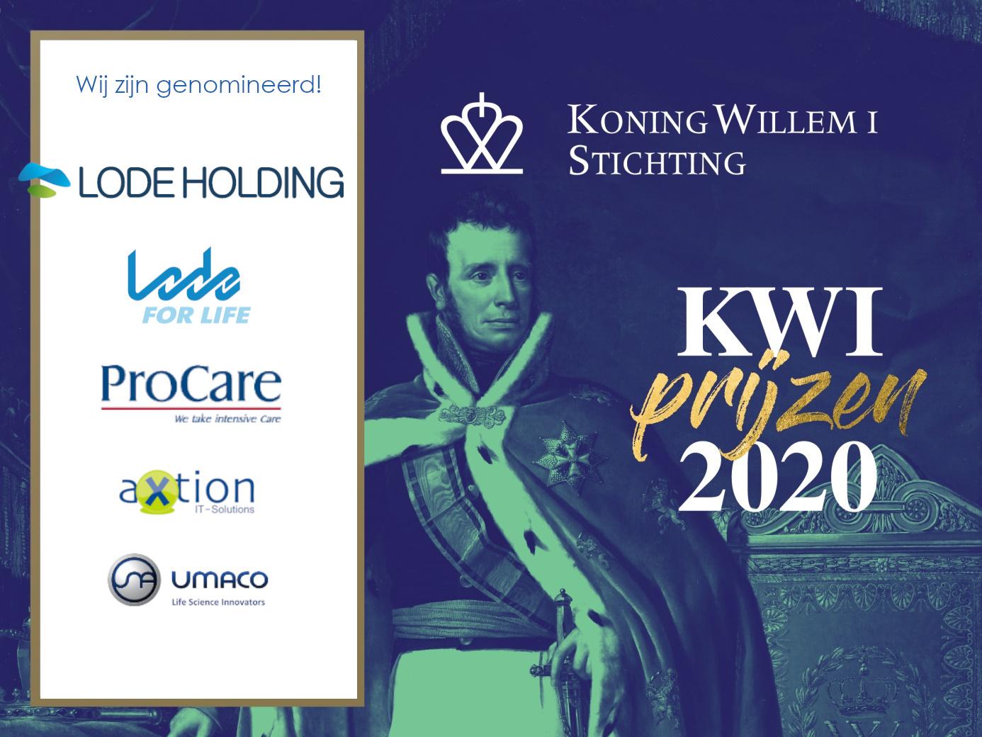 We zijn genomineerd voor de Koning Willem I prijs!